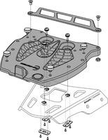 Adapter plotna GPT pro kufr Givi/Kappa
