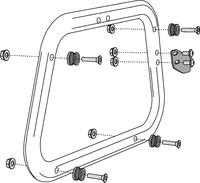 Adapter na nosič SW-EVO pro kufr TraX