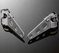 Držák hlavního moto světla Highway Hawk s objímky 32-37mm, boční montáž, chrom (