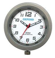 Analogové moto hodiny Oxford - stříbrné