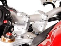 Zvýšení řídítek pro Hondu CRF 1000 L Africa Twin stříbrné
