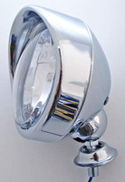 Dálkové světlo 90mm s kšiltíkem, chrom, H3