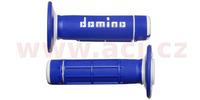 gripy A020 (offroad) délka 118 mm, DOMINO (modro-bílé)