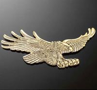 Highway Hawk Emblém samolepící 110x55mm (orel), mosaz