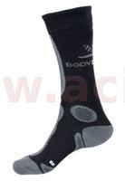 Ponožky termo Inline, BODY DRY (černo/šedá)