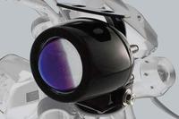 Přídavné světlo na moto mlhové černo/modré 1ks