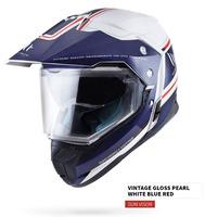 Enduro přilba MT Synchrony Duosport SV Tourer bílo-modro-červená