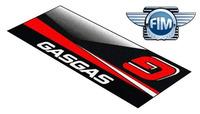 Koberec pod moto GASGAS MX/EN černo/červený