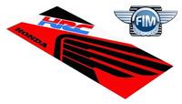 Koberec pod moto HONDA HRC SUPERBIKE červeno/černo/bílý