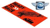 Koberec pod moto KTM MX/EN oranžovo/černý