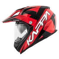 KV30 ENDURO FLASH červená/černá - enduro helma KAPPA