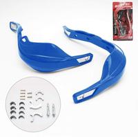 Biketec, chrániče páček s kovovou výztuhou a montážní sadou, modré