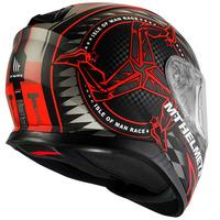 Integrální přilba na motorku MT Thunder 3 SV Isle Of Man černo-šedo-červená