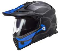 LS2 MX436 PIONEER EVO COBRA MATT BLACK BLUE