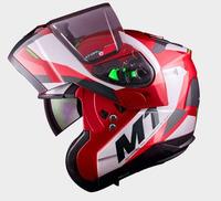 Vyklápěcí přilba na motorku MT ATOM SV Transcend F5 GLOSS RED