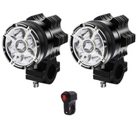 Přídavná LED světla na motorku X2 sada 2kusy + vypínač + kabeláž