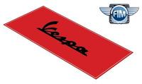 Koberec pod moto 80x200cm VESPA červeno/černý