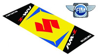 Koberec pod moto 80x200cm SUZUKI RM-Z černo/žlutý