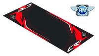Koberec pod moto 100x160cm Hurly HONDA CRF černo/červený