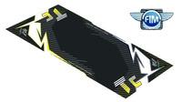 Koberec pod moto 100x160cm Hurly HUSQVARNA TC černo/žlutý