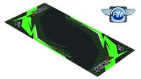 Koberec pod moto 100x160cm Hurly KAWASAKI KXF černo/zelený