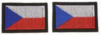Vlajka CZ, SPIDI (pár, nášivka na suchý zip)