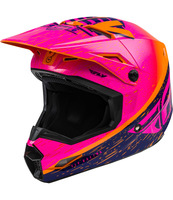 Přilba KINETIC K120, FLY RACING (oranžová/růžová/černá)