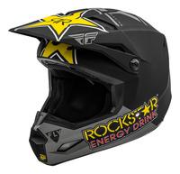 Přilba KINETIC ROCKSTAR, FLY RACING (šedá/černá/žlutá)