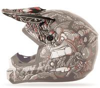 Kšilt na přilbu FLY Kinetic Jungle - FLY RACING - USA (šedá/červená)