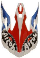 Náhradní kšilt pro přilby AVIATOR 2.2 Steady, AIROH (bílá/modrá/červená)