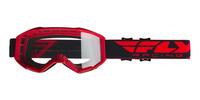 Brýle FOCUS, FLY RACING - USA (červená, čiré plexi bez pinů)