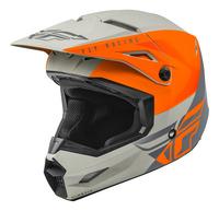 Přilba KINETIC STRAIGHT, FLY RACING (oranžová/šedá)