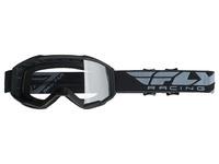 Brýle FOCUS, FLY RACING (černé, čiré plexi bez pinů)