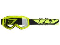 Brýle FOCUS, FLY RACING (hi-vis, čiré plexi bez pinů)