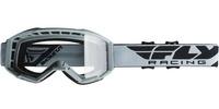 Brýle FOCUS 2020, FLY RACING (šedé, čiré plexi bez pinů)