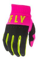 Rukavice F-16 2020, FLY RACING (růžová/černá/hi-vis)