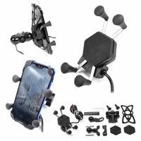 Držák na telefon/kameru s USB nabíjením Biketec, uchycení na řidítko nebo zrcátko