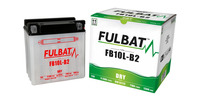 Baterie 12V, YB10L-B2, 11Ah, 130A, konvenční 135x90x145, FULBAT (vč. balení elektrolytu)