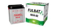 Baterie 12V, YB14-A2, 14Ah, 165A, konvenční 134x89x166, FULBAT (vč. balení elektrolytu)