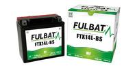 Baterie 12V, YTX14L-BS, 12,6Ah, 200A, bezúdržbová MF AGM 150x87x145 FULBAT (vč. balení elektrolytu)