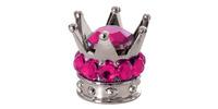 Kovové čepičky ventilků Crown, OXFORD (stříbrná/růžová, pár)