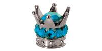Kovové čepičky ventilků Crown, OXFORD (stříbrná/modrá, pár)