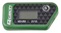 Měřič motohodin bezdrátový s nulovatelným počítadlem, Q-TECH (zelený)