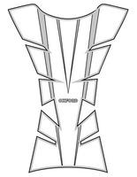Protektor nádrže Sheer Arrow, OXFORD (stříbrný)