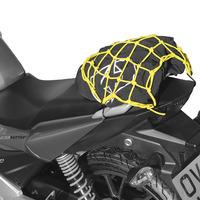 Pružná zavazadlová síť pro motocykly, OXFORD (27 x 25 cm, žlutá fluo/reflexní)