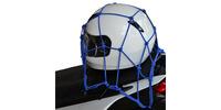 Pružná zavazadlová síť pro motocykly, OXFORD (30 x 30 cm, modrá)