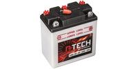 Baterie 6V, 6N6-3B, 6Ah 50A, konvenční 99x57x111 A-TECH (vč. balení elektrolytu)